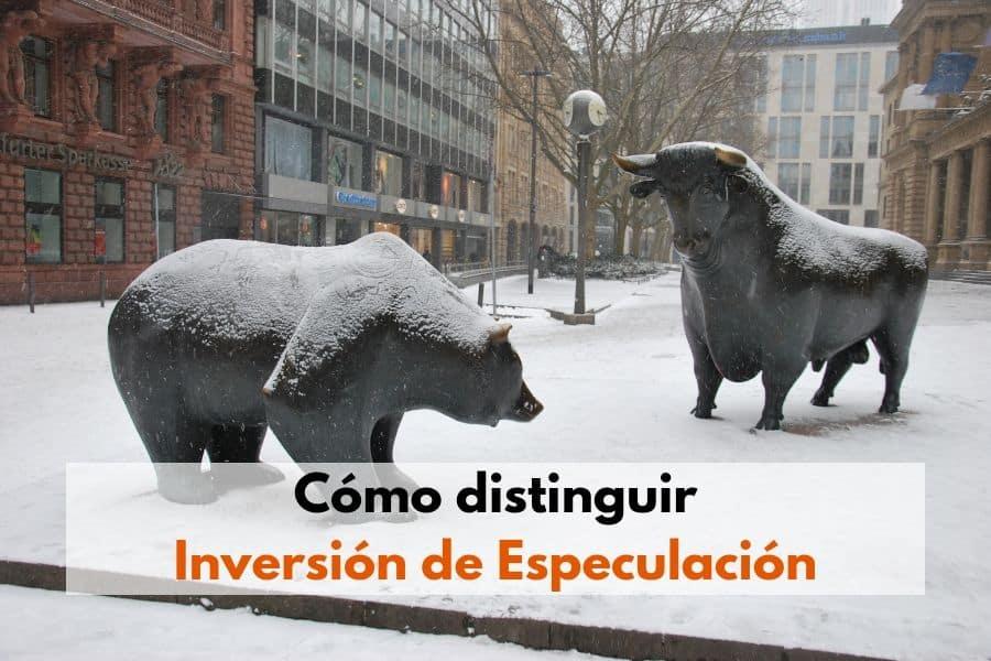 Cómo distinguir inversión de especulación