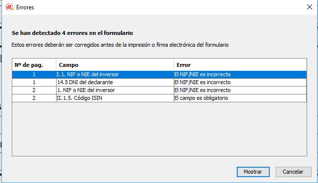 Chequeo de errores Modelo D6 Aforix