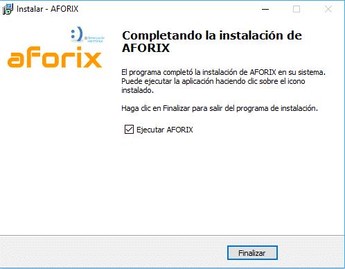 Instalación Aforix